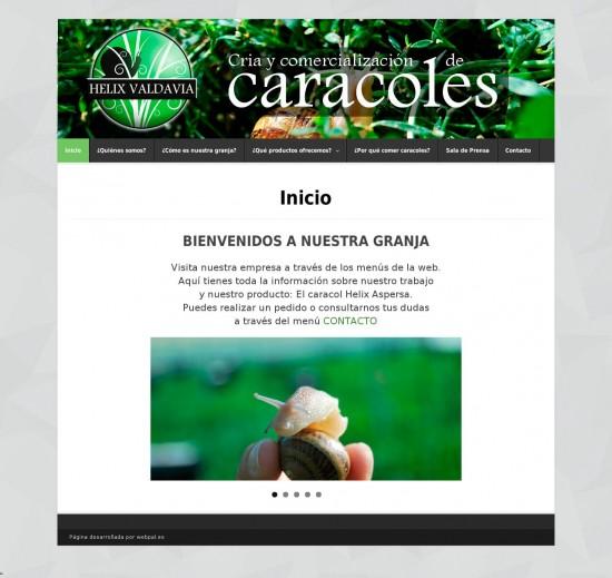 Inicio Helix Valdavia Granja de Caracoles en Palencia